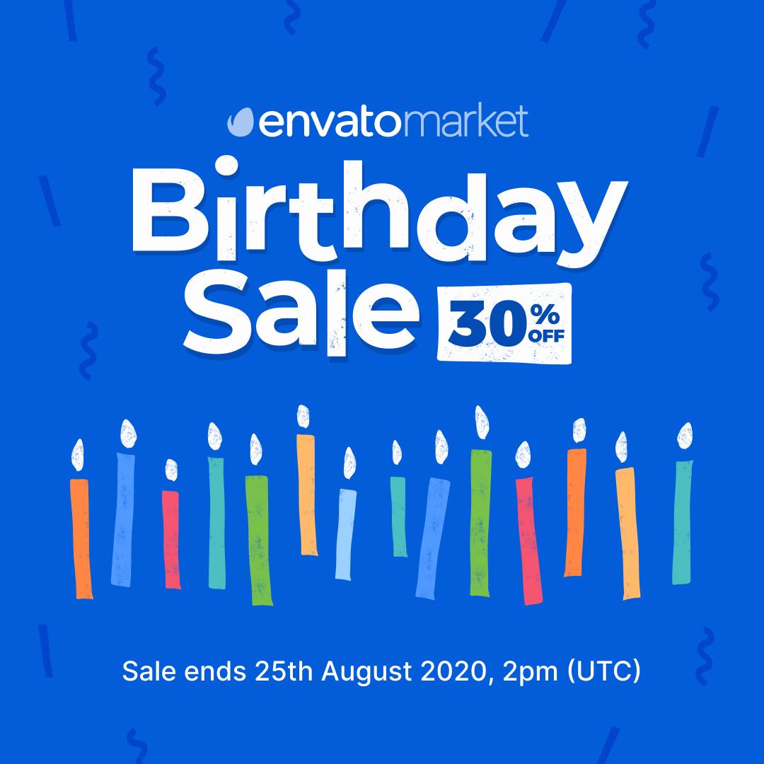 Birthday Sale 30% off till 25th August
